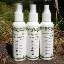 icaridin spray small bottle (150ml) white spray top